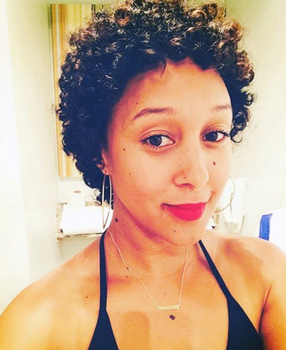 Tamera Mowry Natural Hair & Makeup