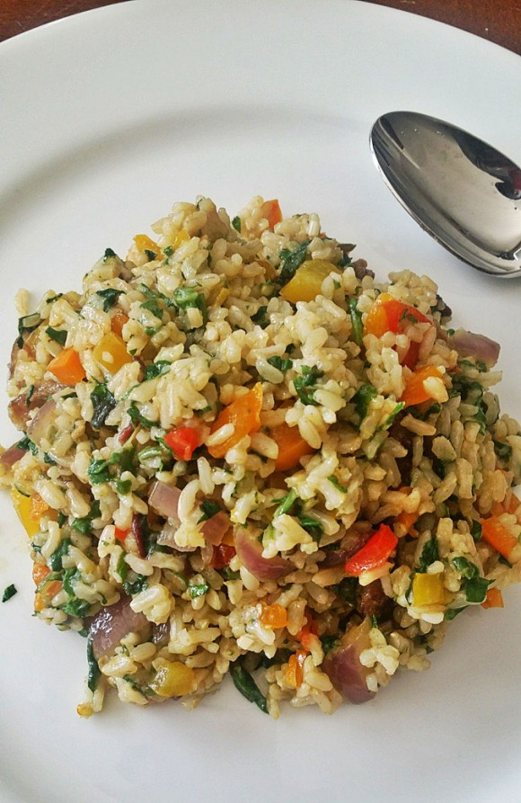 Healthy Thanksgiving Dishes - Brown Rice Stirfry