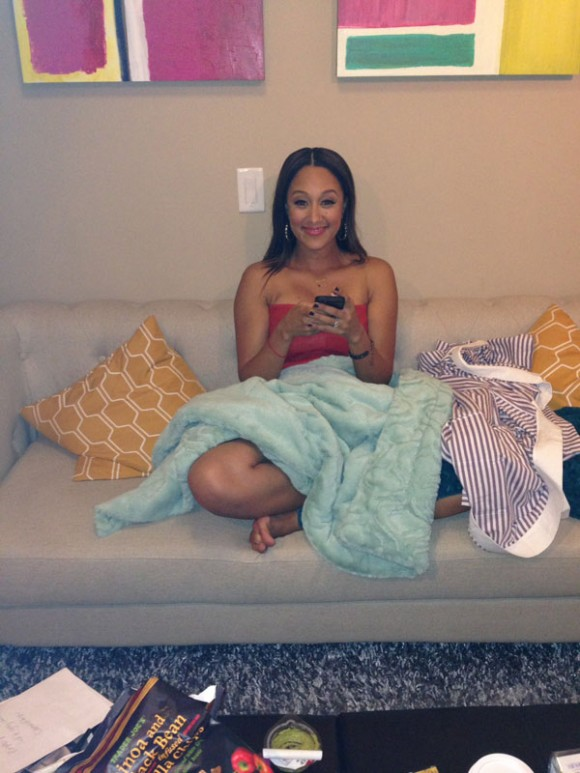 Inside Tamera Mowry's Dressing Room at the Real