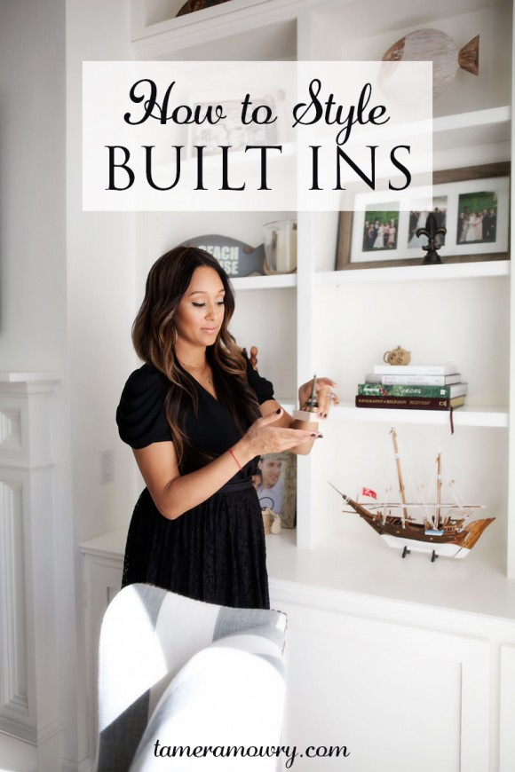How to Style Built Ins | TameraMowry.com