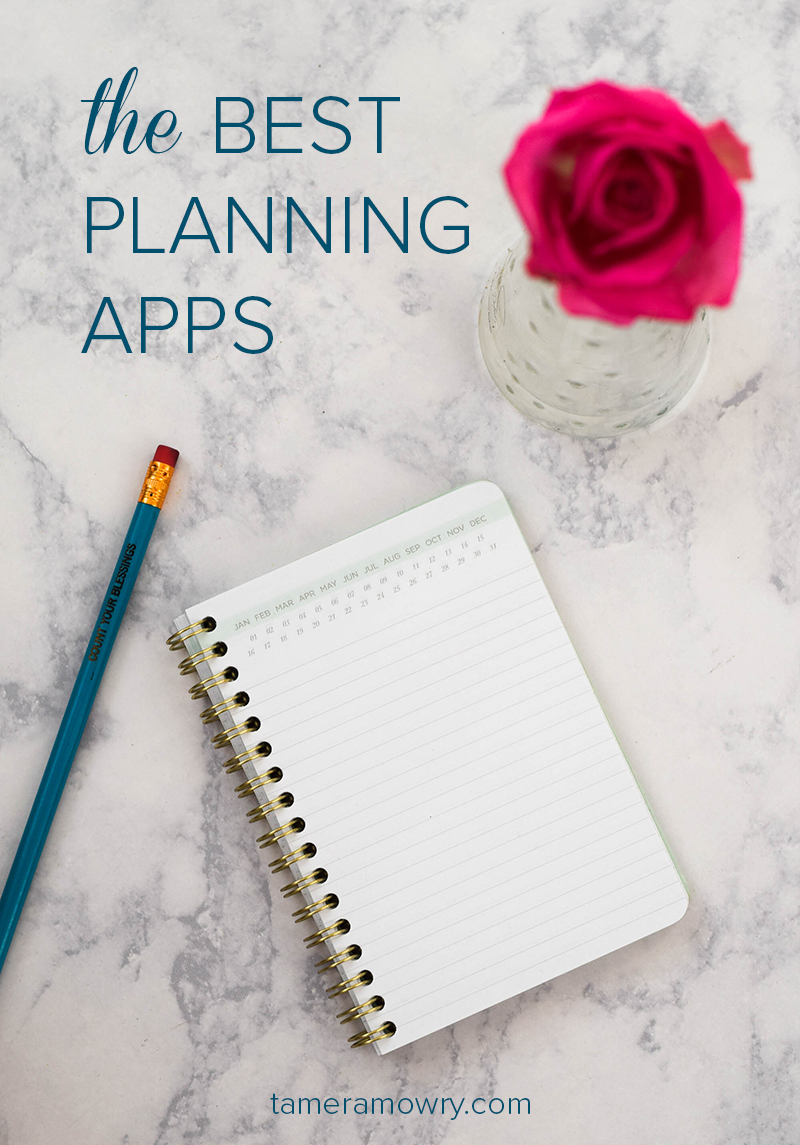 Best Planning Apps via Tamera Mowry