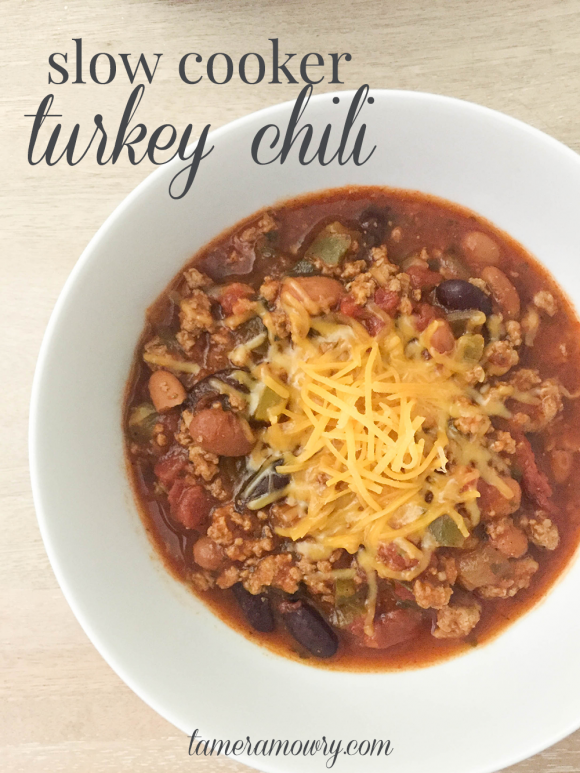 Slow Cooker Turkey Chili by Tamera Mowry