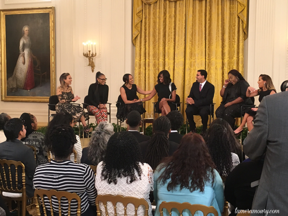 Tamera Mowry White House Visit for The Real
