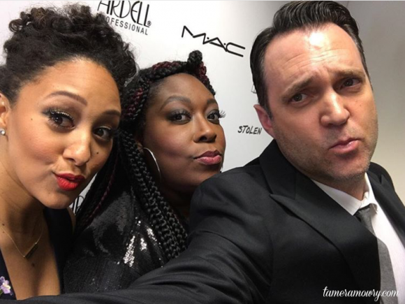 Tamera Mowry & Adam Housley at the Makeup Artists & Hair Stylist Awards 2016