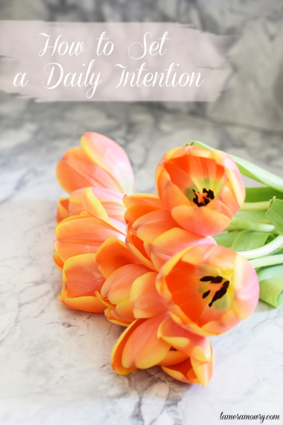 How to set a daily intention via Tamera Mowry