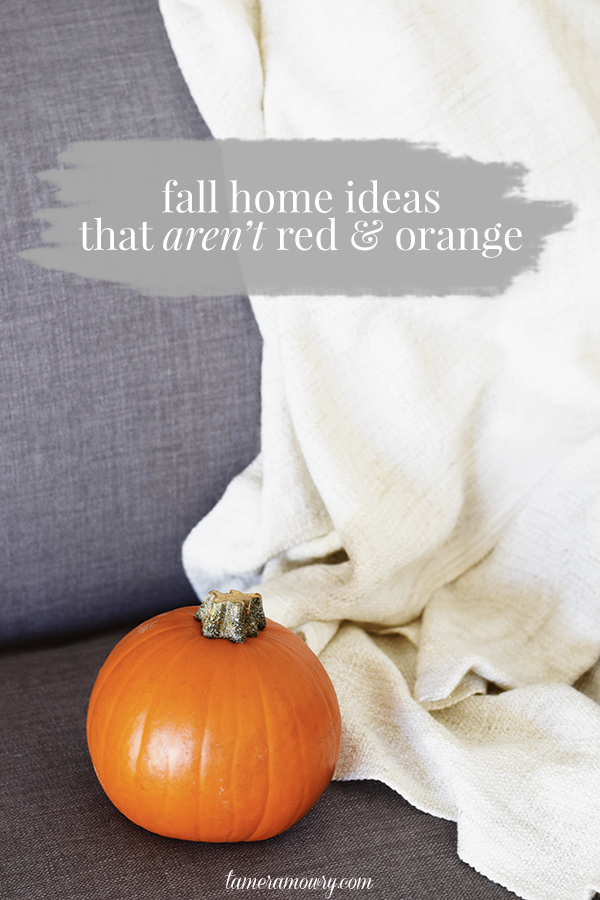 Fall Home Decor Ideas - That Aren't All Red + Orange via Tamera Mowry