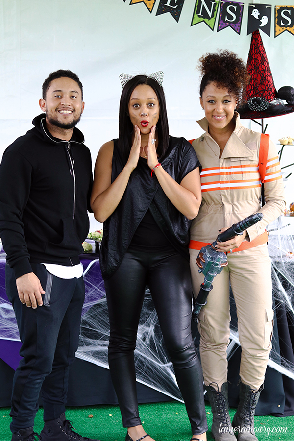Tahj, Tia, and Tamera at Aden's 4th Birthday - Tamera Mowry