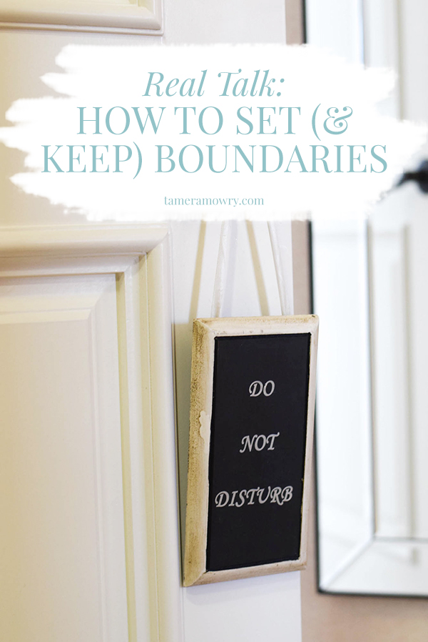 Real Talk: The Importance of Setting Boundaries - Tamera Mowry