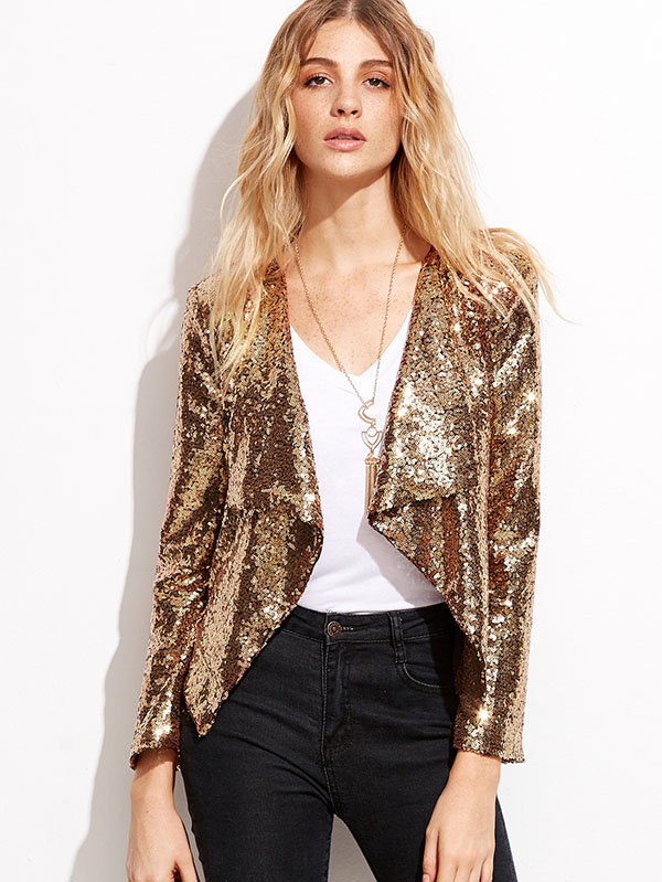Sequin Jacket - New Years Eve Outfit Ideas - Tamera Mowry