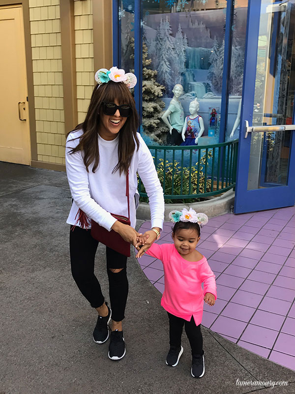 Ariah at Disneyland - Tamera Mowry