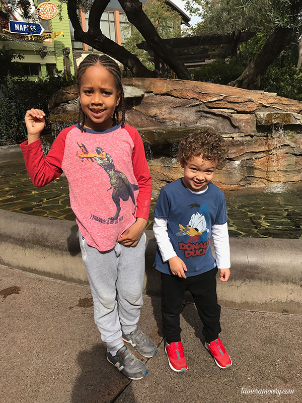 Aden and Cree at Disneyland - Tamera Mowry