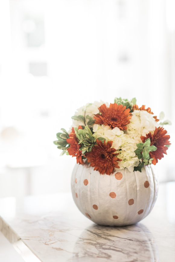 painted pumpkin vase