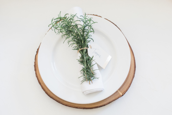 Rosemary Table Setting Idea