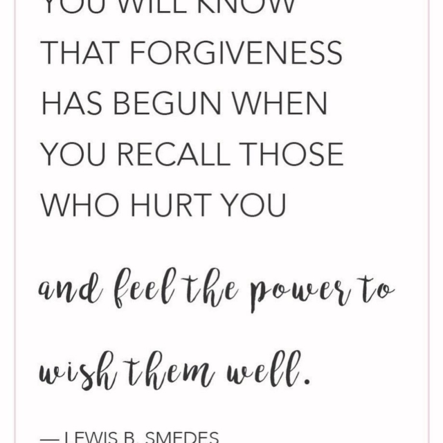 Truly there is no greater power than to forgive