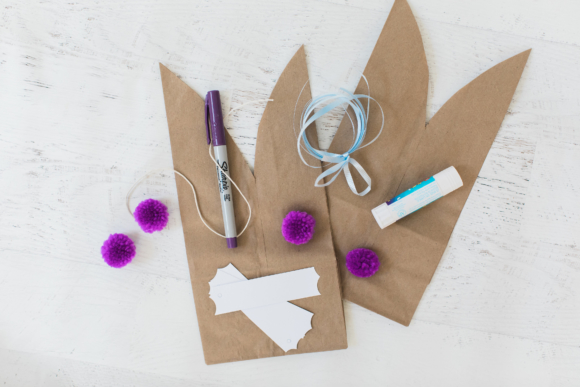 10 minute diy easter bunny treat bags tamera mowry paper bunny treat bags negle Image collections